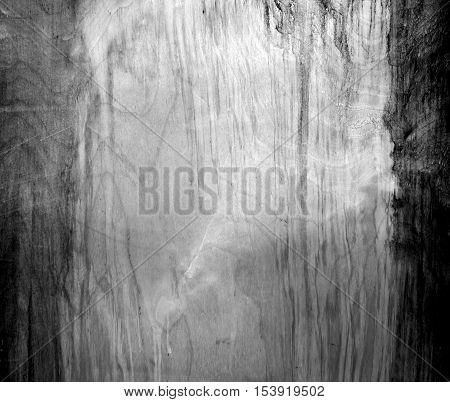 Weathered Black And White Fiberboard Texture.