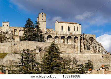 Citadel of Sisteron and its fortifications. Durance Valley, Alpes de Haute Provence, Southern Alps, France