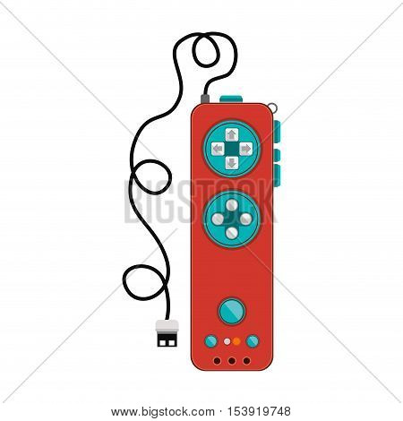 remote controller with usb wired vector illustration