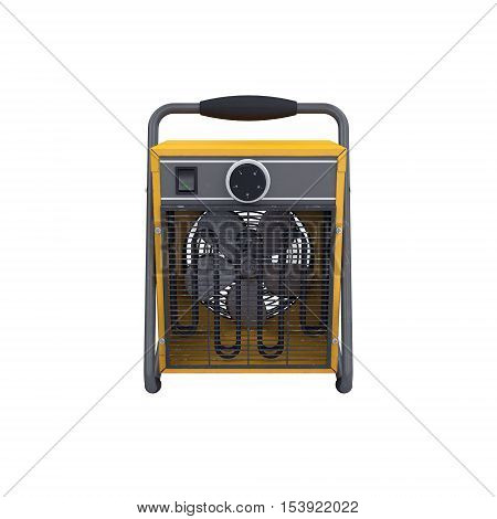 Industrial fan heater isolated on white, 3D rendering