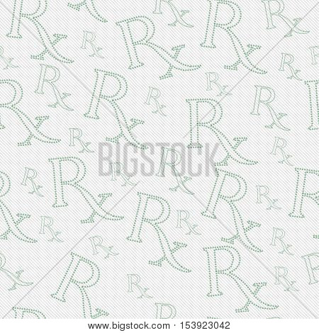 Green and White Prescription symbol made from Marijuana Leaves Pattern Repeat Background that is seamless and repeats