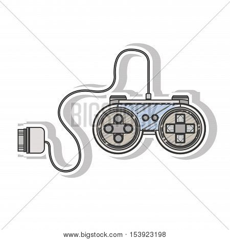 analog remote control games with circular shape vector illustration