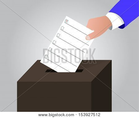 The ballot box day document poll elections