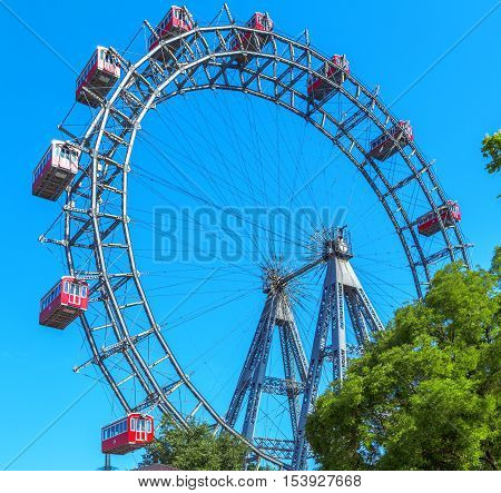 View on the Ferris Wheel in Vienna. Austria.