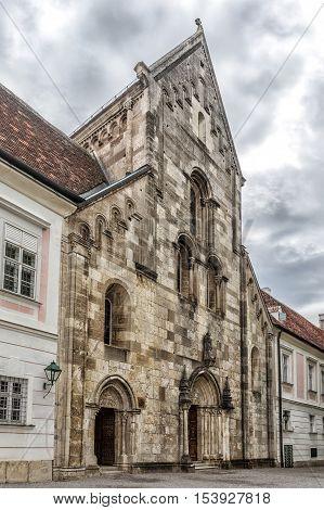 Abbey Of The Holy Cross (stift Heiligenkreuz) In  Vienna Woods.