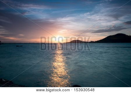 Sunset time at Yo Island,  Songkhla,  Thailand