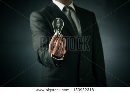 Businessman and new ideas concept high quality and high resolution studio shoot