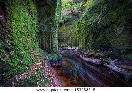 Finnich Glen aka Devil's Pulpit is a little gem hidden in a Forest just off the Drymen near Loch Lomond Scotland UK