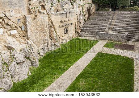 famous Cava dei Balestrieri in the small state of San Marino
