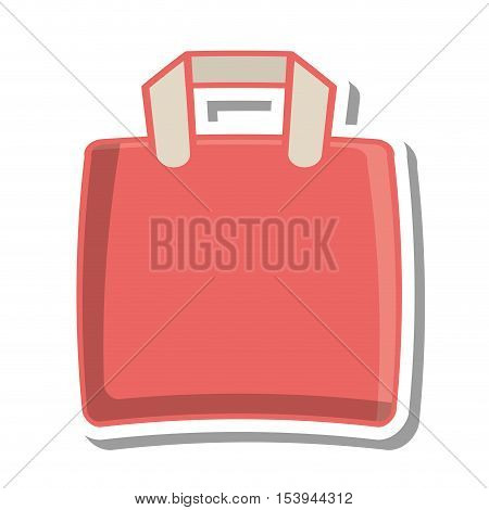 fabric bag transport isolated icon vector illustration design