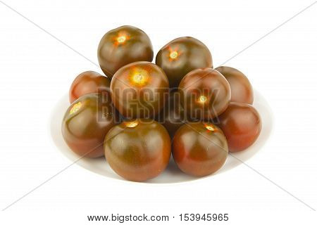 Delicious Ripe Tomato Kumquat Isolated On White