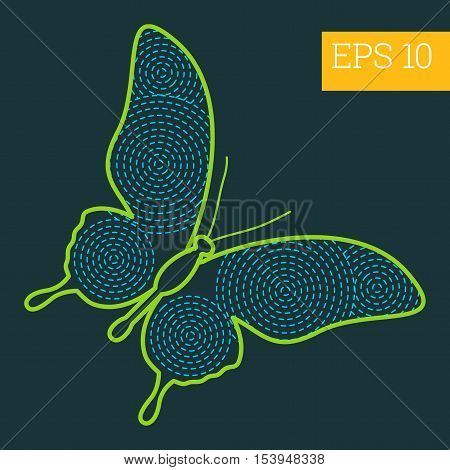 Butterfly Insect Outline Vector
