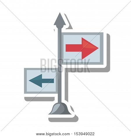 arrows guide way isolated icon vector illustration design