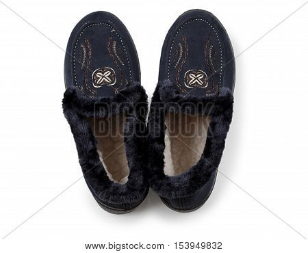 sneakers with fur on white background ,i solated