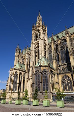 St-Etienne cathedral Metz Moselle Lorraine region France