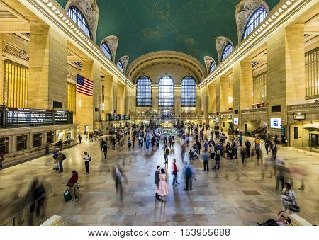 People At Grand Central Terminal, New York City