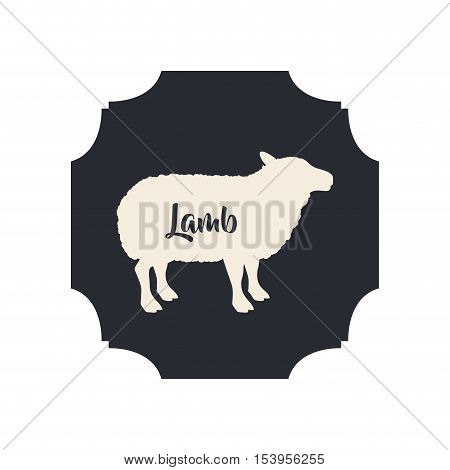 Lamb icon. Livestock animal life nature and fauna theme. Isolated design. Vector illustration