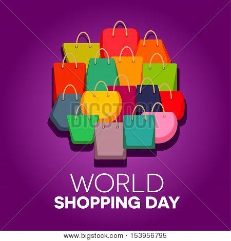 World shopping day vector illustration, 11 November