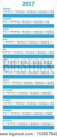 2017 calendar design for office, vector illustration,eps10