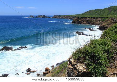 Pacific Ocean coastline, Ecuador Pacific Ocean coastline, Isla de la Plata, Ecuador, South America