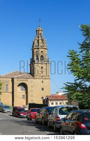 Church of Saint Thomas in the center of Haro capital of La Rioja region Spain