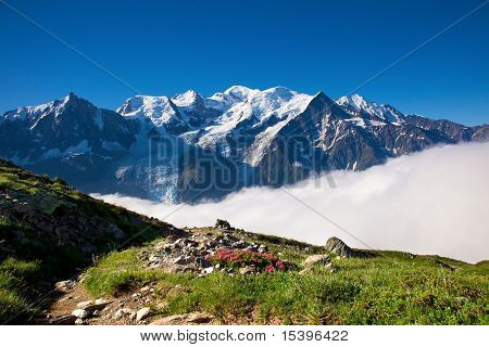 A Beautiful View Of The French Alps