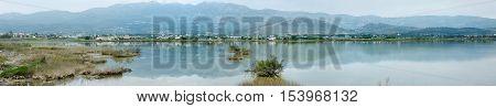 Panorama Of Tigaki Lake On Kos Island