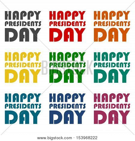 Presidents Day EPS 10 vector stock illustration icons set