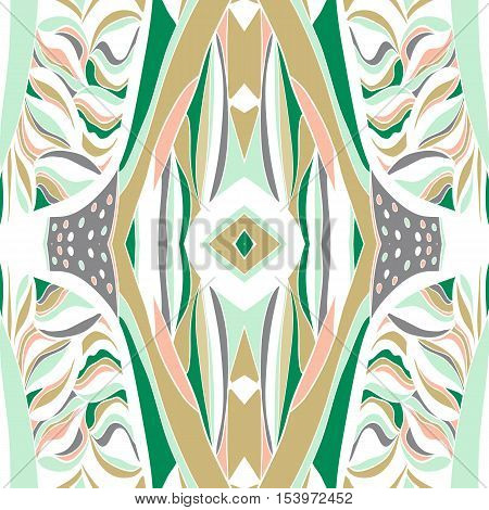 Traditional ornamental paisley bandanna. Hand drawn background with artistic pattern. Pastel colors. Seamless pattern can be used forfills background
