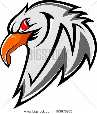 bird eagle head spy security stock logo