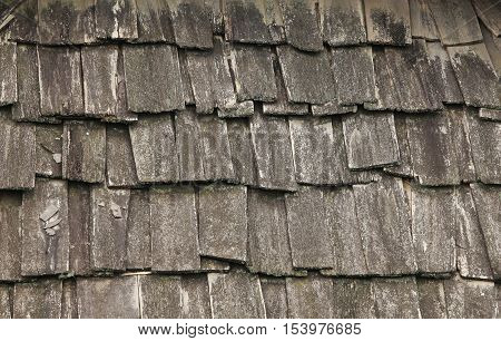 Wooden roof background under the tropical climate
