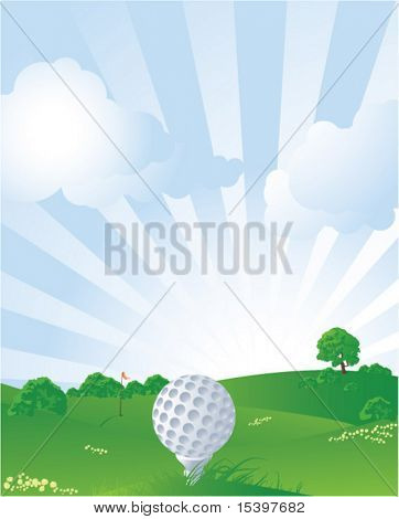 Golf background. Vector illustration