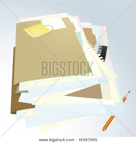 Carpeta de documentos #2. Ilustración del vector.
