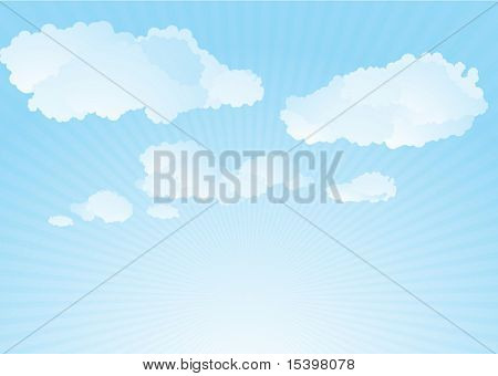 Clouds. Vector background