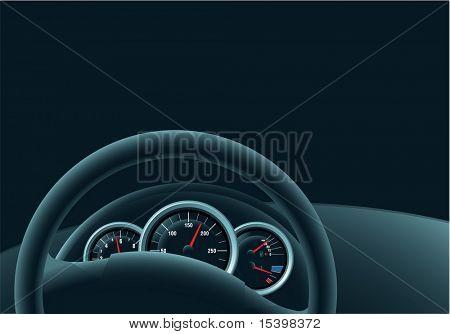 Night drive. Vector
