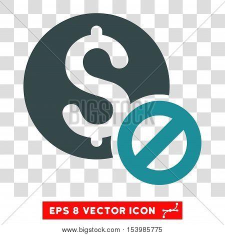 Free of Charge vector icon. Image style is a flat soft blue iconic symbol.