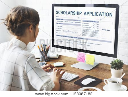 Scholarship Application Form Foundation Concept