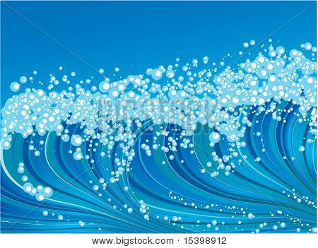 The wave. Vector background.