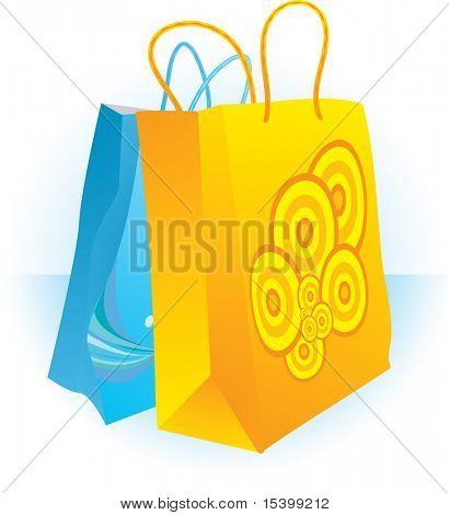 Shopping bags. Vector.