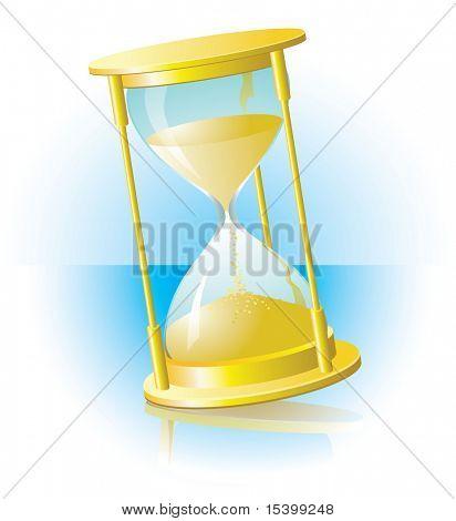 Hourglass. Vector.