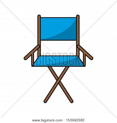 Cinema directors chair icon. Movie video media and entertainment theme. Isolated design. Vector illustration