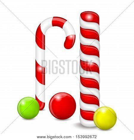 Set of Candies on a White Background. Candies Different.