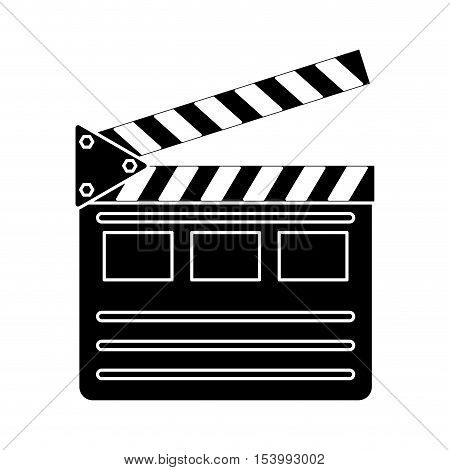 Cinema clapboard icon. Movie video media and entertainment theme. Isolated design. Vector illustration