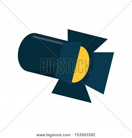 Cinema stage reflectors icon. Movie video media and entertainment theme. Isolated design. Vector illustration