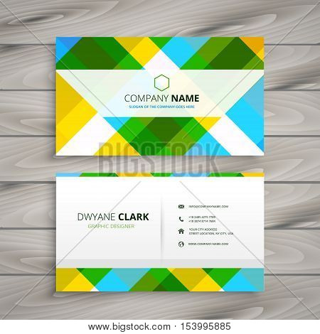 Abstract Patten Business Card Template Vector Design Illustration