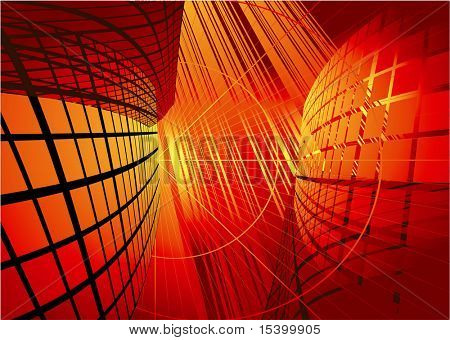Red reflection environmen. Vector background