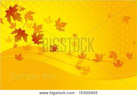 Autumn background #11. Vector.