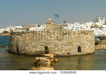 Kastelli castle of Paros island in Greece.