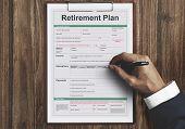 Retirement Plan Loan Liability Tax Form Concept poster