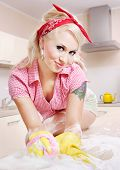 Sexy girl cleaning, similar available in my portfolio poster